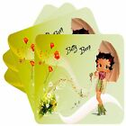 BETTY BOOP SET OF 4 BAR TABLE SQUARE COASTERS NEW