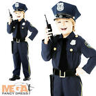 Policeman Officer + Hat Boys Fancy Dress Police Cop Uniform Kids Childs Costume