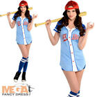 Baseball Babe Ladies Fancy Dress Sports Occupation Womens Adults Costume Outfit