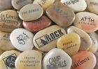 Engraved River Rock Word Stones Sold Individually - Variety of Words and Phrases