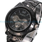 New Fashion Men's Stainless Steel Band Sport Military Army Quartz Wrist Watch