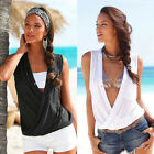 Sexy Womens Sleeveless V Neck Vest Ladies Summer Casual T-Shirt Beach Top Blouse