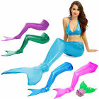 Girls Swimmable Sparkle Mermaid Tails Monofin Mono Fin Swimming Costume Swimwear