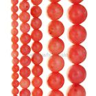 A Strand Natural Coral Orange Gemstone Round Beads 15.5''