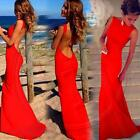 Sexy Girl Women Dresses Prom Ball Cocktail Party Formal Evening Gown Long Red BS