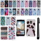 For ZTE Rapido LTE Z932L Design PATTERN HARD Protector Case Phone Cover + Pen