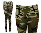 NEW WOMENS PLUS SIZE STRETCHY CAMOUFLAGE PATTERNED ANKLE LEGGINGS SIZE 6-12