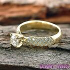 Diamond Engagement Ring 1.27 TCW Round VS/G-H 14k Yellow Gold Size 6 Enhanced