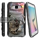 Samsung Galaxy E5 Clip + Holster + Case Combo Kickstand Space and Stars