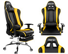 High back Gaming Office Chair Lumbor Support Pu Leather Napping Reclining Chair
