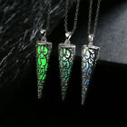 BD New Mens Womens Fashion Geometric Luminous Glow In Dark Pendant Necklace