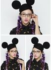 New Celebrity Fashion Cute Chic Women Mickey Mouse Ear Hat Cap Red Black