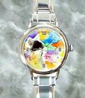 Italian charm wrist watch Ladies Women Cat 605 from art painting L.Dumas