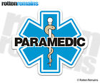 Paramedic Star of Life Decal Blue EMT Firefighter EMS Vinyl Window Sticker EMV