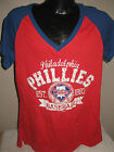 MLB Philadelphia Phillies Baseball Travel V-Neck Shirt Womens Sizes Nwt Majestic on Ebay