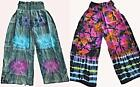 STUNNING COLORFUL COMFY HIPPY WIDE LEG SOFT RAYON PANTS SIZE 8 TO 18 TIE DYED