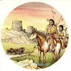 Ceramic Decals Southwest Native American Indian Hunters Buffalo Mesa image