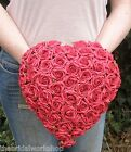 Wedding Flowers Bride Plain Rose Heart Bouquet Posy Posie Teardrop Shower