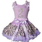 Lavender Leopard Pettiskirt & Rhinestone 2nd Birthday Tank Top Dress Outfit