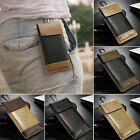 Universal Leather Wallet Pouch Case Belt Clip Holster For Various Mobile Phone