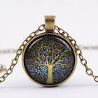 New Wholesale 12PCS Tree of Life Pendant Glass Cabochon Necklace 3Colors Cosplay