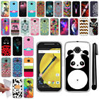 For Motorola Moto E LTE 2nd Gen 2015 TPU Protective SILICONE Case Cover + Pen