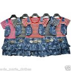 NEW GIRLS MOCK WAISTCOAT RARA DRESS BUTTERFLY 2-3-4-5-6-7-8-9 YEARS NEXT HOLIDAY