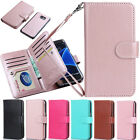 For Samsung Galaxy S7/S7 Edge Leather Wallet Card Holder Flip Dual Case Cover