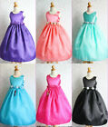 Lovely Fuchsia Purple Silver Black Turquoise Coral flower girl party dress