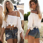 Fashion Summer Women Lace Short Sleeve Vest Top Casual Tank Blouse Tops T-Shirt