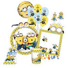 MINIONS Despicable Me - Birthday PARTY RANGE (Tableware/Balloons/Decorations) Y