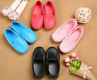 Boys Girls Casual Soft Peas Leather Slip On Flat Kids Shoes Loafer Fashion Flats