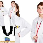 DOCTORS WHITE LAB COAT SCIENTIST Age 3-10 Boys Girls Childs Fancy Dress Costume