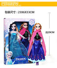 "2PCS Birthday Gift Playset Frozen Princess Elsa&Anna 12"" Doll Figures Set #13"