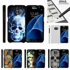 For Samsung Galaxy S7| Slim Fit Hard 2 Piece Case Sinister Skulls