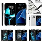 For Samsung Galaxy S7| Slim Fit Hard 2 Piece Case Blue Silhouettes