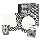 MOROCCAN IKAT Party Tableware & Accessories (Birthday/Napkins/Plates/Monochrome)