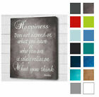 - Buddha Wall Picture. Happiness.. Quote Grey Buddha Wall Canvas Print A3/A4