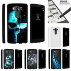 For LG V10| LG G4 Pro| Slim Fit Hard 2 Piece Case Blue Silhouettes