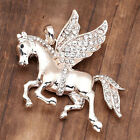 New Fashion Horse Animal Rhinestone Charm Pendant For Nacklace Chain Jewelry
