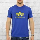 Alpha Industries Männer T-Shirt Basic T blau Herren Shirt Mens Tee blue