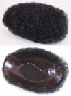 """PREMIUM MEN'S MALE NATURAL AFRO TIGHT CURLS CURLY WIG TOUPEE 6.25"""" X 9"""" BASE"""