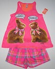 Nwt New Justice Pajamas Sleepwear Chocolate Easter Bunny No Ears Pink Cute Girl
