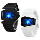 Men's Sport New Black Stainless Steel Luxury Digital LED Watch Chic KKK