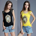 Women Casual Cotton Blouse Sleeveless Vest T-shirt Summer Blouse Tops