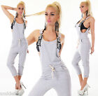 WoW COOLER Sweat-Overall Latzhose Boyfriend-Jogging-Pants Neu