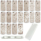 Free Ship Cutout Set Unique Floral TPU Bumper Hard Back Case For Iphone 5S 6S