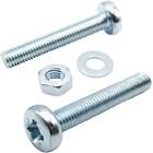 M4 & M5 ZINC MACHINE POZI PAN HEAD SCREWS / BOLTS WITH FULL NUTS & THICK WASHERS