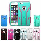 """For iPhone 6 6S Plus 5.5"""" Extreme Tuff Hard Silicone Soft Hybrid Case Skin Cover"""