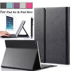 Stand Leather Case Cover With Bluetooth Keyboard For Apple iPad Mini Air 2 3 4